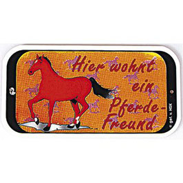 """Türschild """" Hier wohnt ein Pferdefreund"""""""
