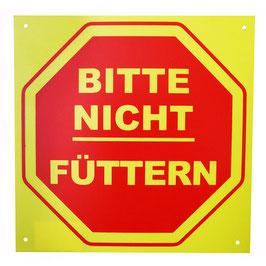 """Hinweisschild """"Bitte nicht füttern"""", gelb-rot"""