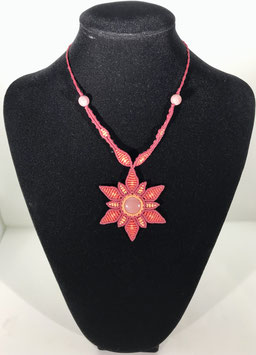 Macramé Fleur en jaspe