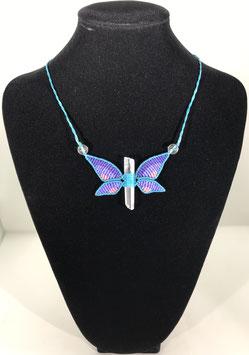 Macramé Papillon en cristal