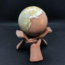 Sphère en jaspe picasso