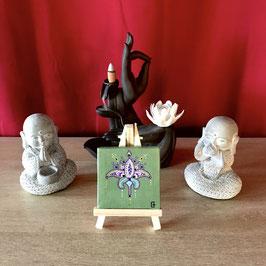 Tableau Amour de lotus (sur chevalet)