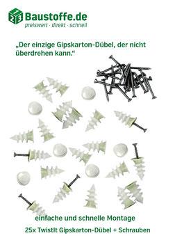 TwistIt - Gipskartondübel mit Überdrehschutz