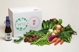 エビベジ野菜セット 大 + 獺祭 純米大吟醸 磨き二割三分 720ml