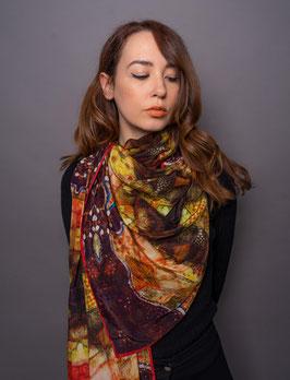 Paisley Gaudi Silk Scarf PGAU/200