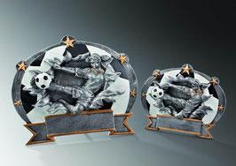 Sportfigur Plakette Fußball Damen