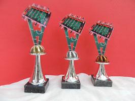 Kicker Acryl Pokale inklusive Gravur