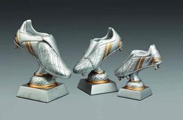 Fußball Figur Schuh silber/gold inklusive Gravurschild.