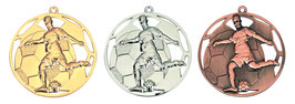 Fußball Medaille 50 mm inkl Halsband