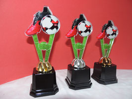 Fußball Acryl Pokale inklusive Gravur