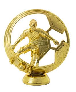 Figur Fußball gold inklusive Gravurschild