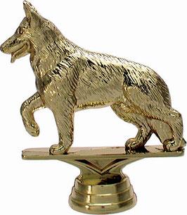 Sportfigur Schäferhund gold silber bronze