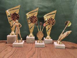 Darts Komplett Pokal Set