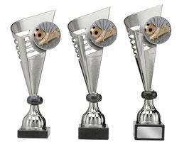 Pokal 3er Serie Hilversum gold silber mit 70 mm 3D Emblem