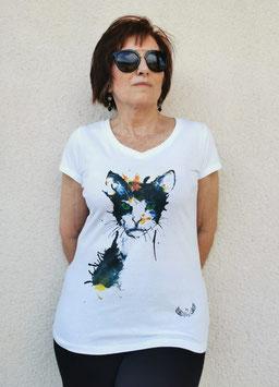 Tee-shirt Femme Chat
