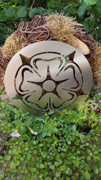Lippische Rose - Edelstahl in 3 Größen