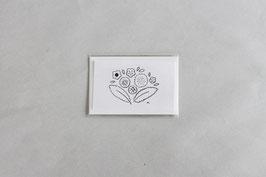 ぬりエコミニカード 焼菓子の花束