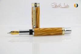 »Aurin« Olivenholz aus einer Türschwelle,  Füller mit Bock Tintenleitsystem