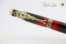 Skull-Pen, Lucifer, Antik Messing