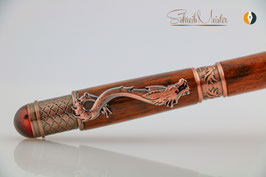 »Drachen Stift«, Schlangenholz, Antik Kupfer