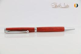 »Finley«Kugelschreiber, Red Heart, naturbelassen, satiniertes Chrom