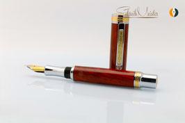 »Aurin« Cocobolo Füller mit Bock Tintenleitsystem M - verkauft -