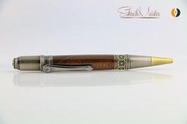 »Celtic Fairy« Dreh-Kugelschreiber, Black Walnut USA XG, Antik-Bronze, polierter Stahl