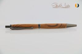 »Finley« Klick-Kugelschreiber, Pflaume XG, natur, Gun Metal