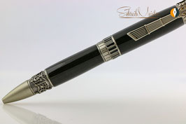 »Music Pen«, geflammte Eiche, Antique Zinn