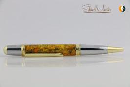 »Merlin« Flower-Power mit echten Butterblumen-Blüten, Chrom und Gold