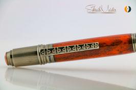 »Celtic Fairy« Dreh-Kugelschreiber, Padouk, Antik-Kupfer, polierter Stahl