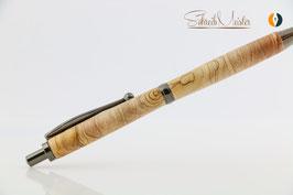 »Finley« Klick-Kugelschreiber, Apfel gestockt, XG, natur gewachst, Gun Metal