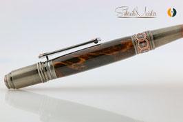 »Celtic Fairy« Dreh-Kugelschreiber, stabilisierte Eiche, Antik Kupfer
