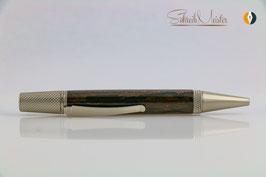 »Alva« Dreh-Kugelschreiber, Ziricote, Silber