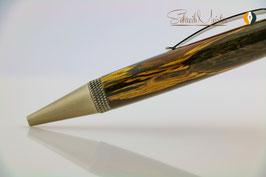 »Alva« Dreh-Kugelschreiber, stabilisierte Fichte, Gun Metal