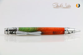 »Ski Pen«, Esche XG, Green Orange, Chrom