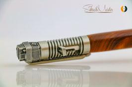 »Biker Stift«, Weichsel XG, natur, Antik Silber