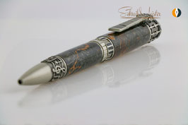 »Music Pen«, Buckeye Pearl stabilisiert, Antique Zinn