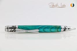 »Ski Pen«, Esche XG, Blue Iceman, Chrom