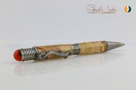 »Drachen Stift«, Apfel gestockt hell XG, Antik Zinn