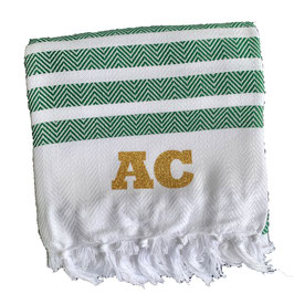 *monogram towel deluxe* green