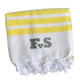 *monogram towel deluxe* yellow