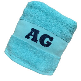 *monogram towel & beach bag* turquoise