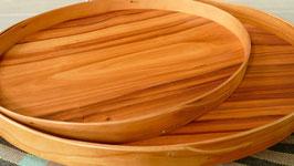 ovale Tabletts aus Kirschbaum