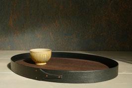ovales Tablett aus Esche