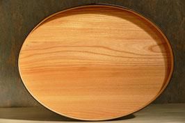 ovales Tablett Ulmenholz