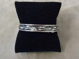 Sterling Silver 925 Oxidized Slim Bracelete Cuff
