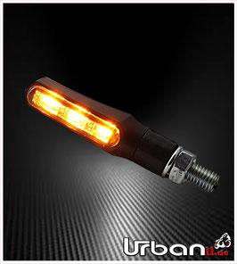 LED Mini Blinker schwarz getönt