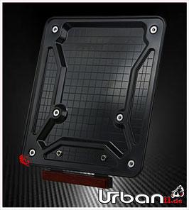 Motorrad Kennzeichenhalter ABS Mini-Rückstrahler (abnehmbar)