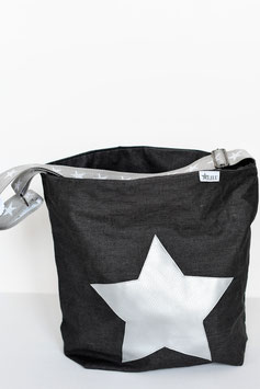 """Tasche *Midi"""" mit Stern und speziellem Sternegurtband"""